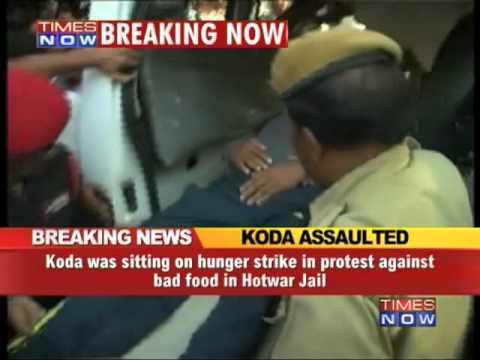 Former Jharkhand CM Madhu Koda assaulted