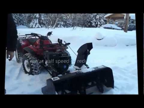 Homemade atv snow blower.wmv