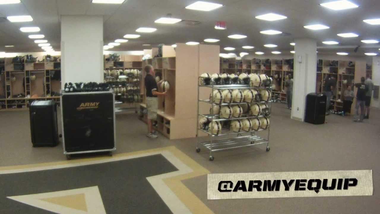 Army Football Equipment Locker Room Time Lapse Youtube