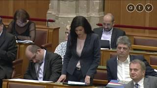 Demeter Mártát lehülyézik, majd lenémítják a Parlamentben