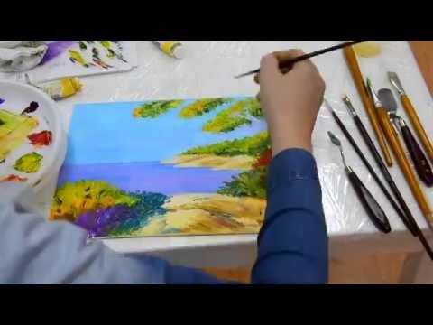Рисуем маслом поэтапно видео