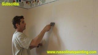 DIY Paint over Vinyl Wallpaper & Border (Part 1)