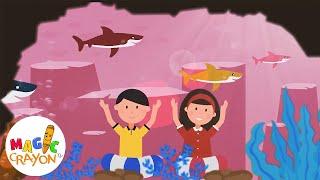 Baby Shark, Johny Johny Yes Papa & More Nursery Rhymes & Kids Songs | Magic Crayon TV