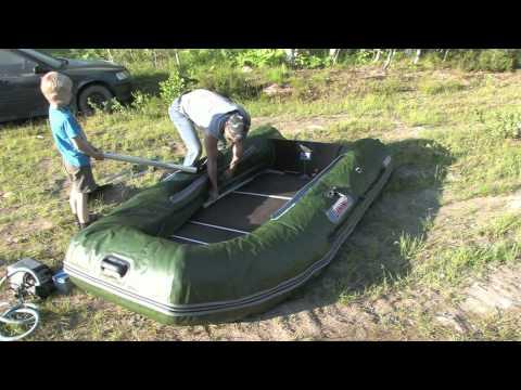 как собрать резиновую лодку с мотором