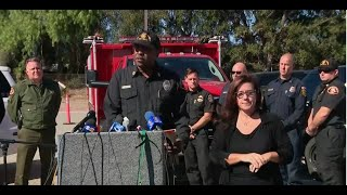 California officials hold a news conference