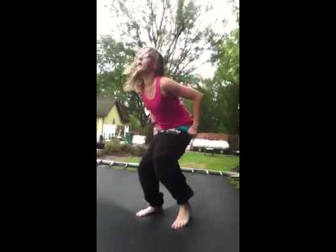 Girl's pants fall down! - YouTube