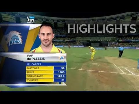 IPL 2018 1st qualifier SRH vs CSK full match Highlights  CSK Beat Sunrisers