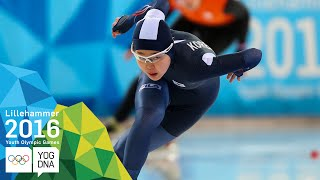 Speed Skating 500m - Min Sun Kim (KOR) wins Women's gold | \u200bLillehammer 2016 \u200bYouth Olympic Games\u200b