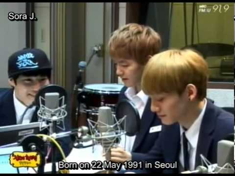 [ENG SUB] 130829 EXO Members' Profiles @ Shinyoung Radio