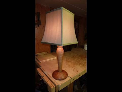Woodturning Turning A Lamp Youtube