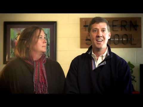 Parents Lori and Scott V. discuss Havern School