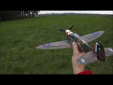 First loop and Roll/ Kyosho Minium WARBIRD /Part 8/ Spitfire MK.1/ Pilot Ray/Created by DCR