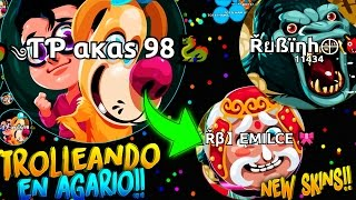 TROLLEANDO en Agar.io | New Skins Jungle | Rubinho vlc