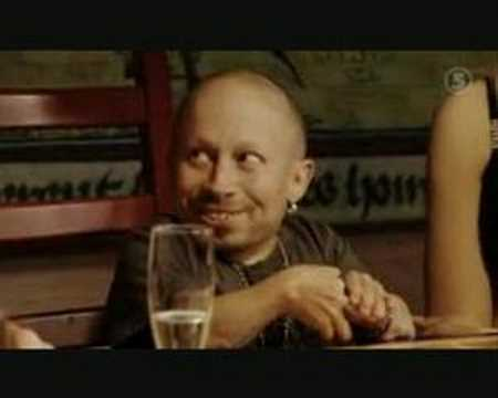 Verne Troyer finally meets the Swedish Bikini Team