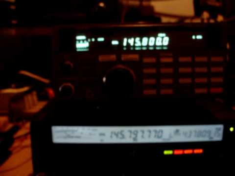 ISS School CETRA Full Signal Over South America CA3SOC Yaesu FT-847 Disconne CE3RR HamRadio Sat Satellite