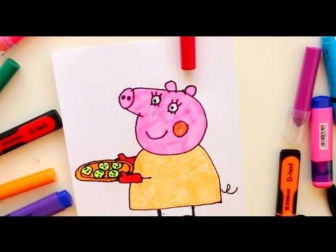 видео как нарисовать свинку пеппу