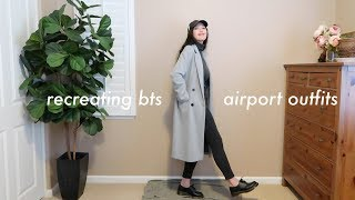 recreating bts AIRPORT outfits with the clothes i have