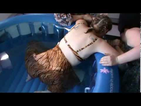 unassisted water birth - YouTube
