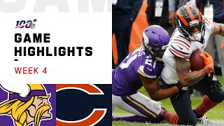 Vikings vs. Bears Week 4 Highlights | NFL 2019