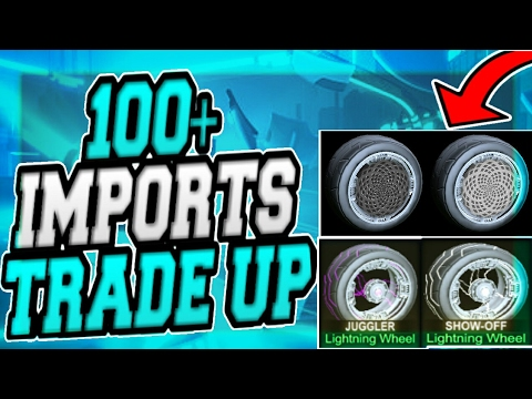 INSANE 100+ IMPORT TRADE UP ON ROCKET LEAGUE!!(PAINTED ZOMBAS AND PAINTED VOLTAICS)