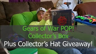Gears of War POP! Collector's Box Unboxing and Review !  Plus Collector's Hat Giveaway !!!