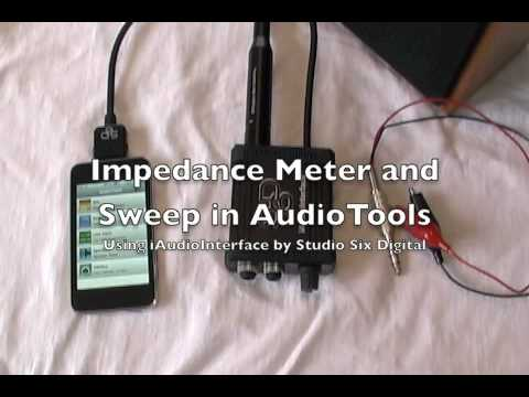 Impedance Meter and Sweep on iPhone