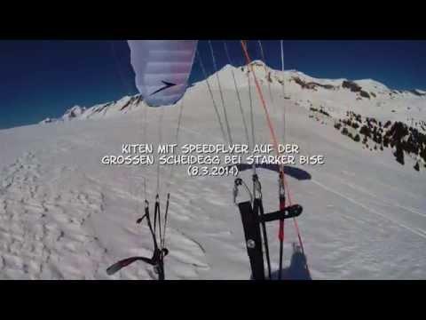 Kiten mit Speed Flyer auf Grosser Scheidegg bei Bise