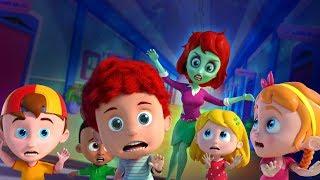 Run Schoolies Run | Halloween Cartoon Songs For Children | Videos by Kids Channel