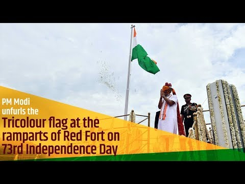 PM Modi unfurls the Tricolour flag at the ramparts of Red Fort on 73rd Independence Day