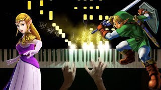 Saria's Song/Lost Woods (Piano Tutorial) - The Legend of Zelda: Ocarina of Time
