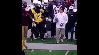 Watch Texas A&M Assistant Shove Opposing Player on the Sidelines