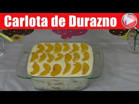 Postre de Galletas Marias con Limon y Durazno / Carlota de Durazno - Recetas en Casayfamiliatv