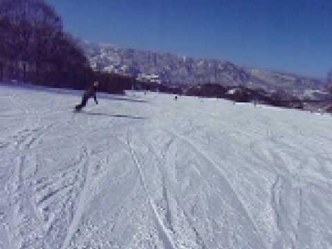 野沢温泉スキー場 上の平~パラダイスゲレンデ(20081229)