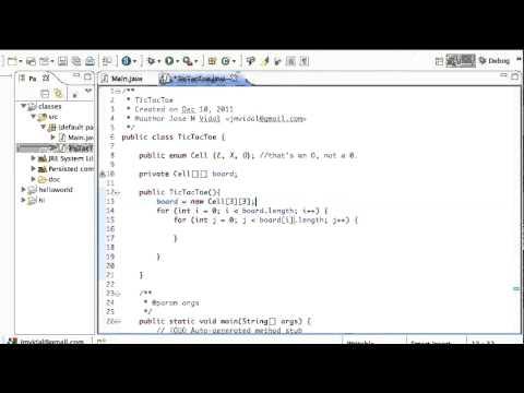 Java Tic Tac Toe Board Program: 2D Array: Tutorial - YouTube