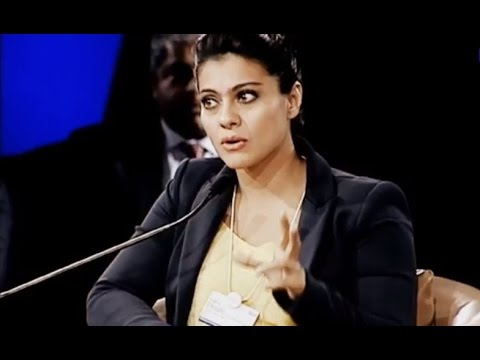 Kajol Devgan speaking at India Economic Forum