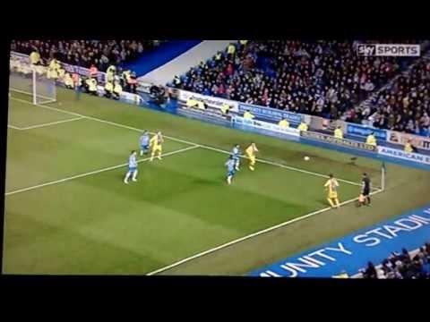 Zaha goals v Brighton - Brighton 0-2 Palace