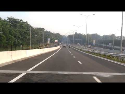 Driving on the newly built expressway [EO3] from colombo to Katunayake Airport ONLY ONE WEEK after was OPENED to the public in Sri Lanka.