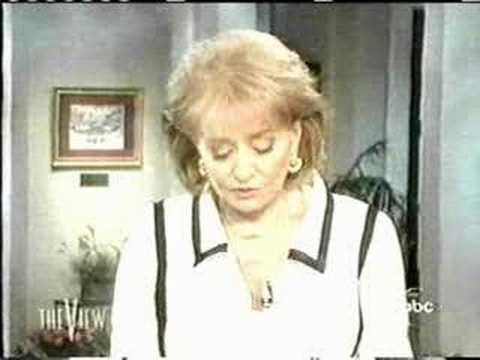 The View - Barbara Walters Statement on Star Jones