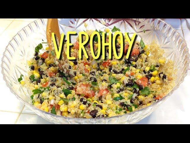 Como preparar Quinoa a la Mexicana - Facil Receta Saludable