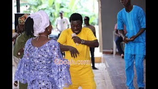 Yoruba Actor Kunle Afod Dancing And Spraying Money On His Wife At Their Son's Naming