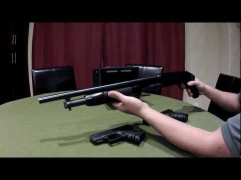 Home defense weapons of choice - Mossberg 500 and Glock 23 SHTF