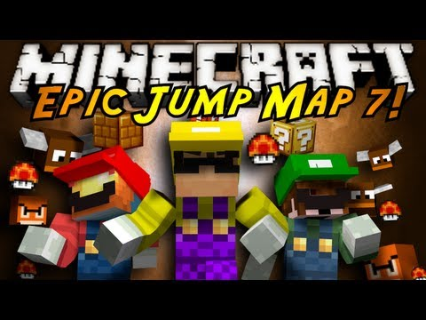 Minecraft: Epic Jump Map MARIO EDITION Part 1