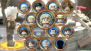 LEGO Dimensions - A Look at All 13 Doctors and TARDIS Interiors (Doctor Who Level Pack)