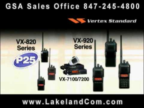 Vertex Standard VX-820 Public Safety Two Way Radio Series - LakelandCom.com