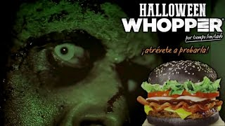 Halloween Whopper Edición Limitada Burger King México 2015