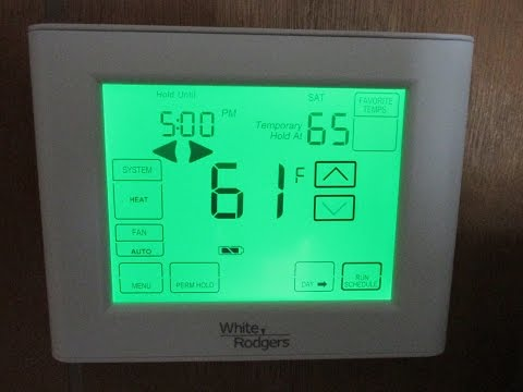 how to fix white rodgers thermostat