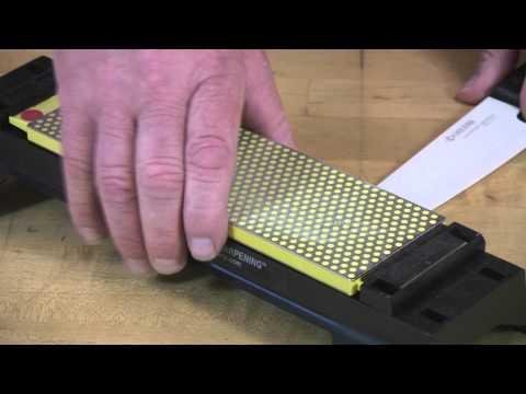8-inch DuoSharp® bench stone extra-fine / fine sharpening a ceramic knife