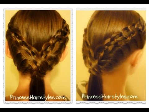 Cute Ponytail Hairstyle, The Braided Ledge Tutorial