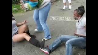 Girls fight over a man