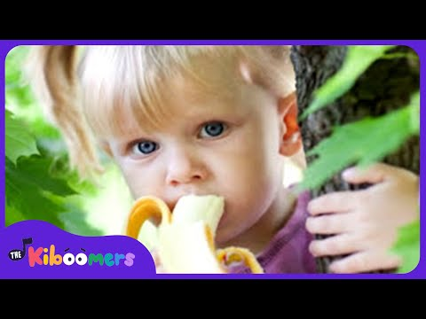 Apples and Bananas Song | Nursery Rhymes | I Like To Eat Apples and Bananas | The Kiboomers